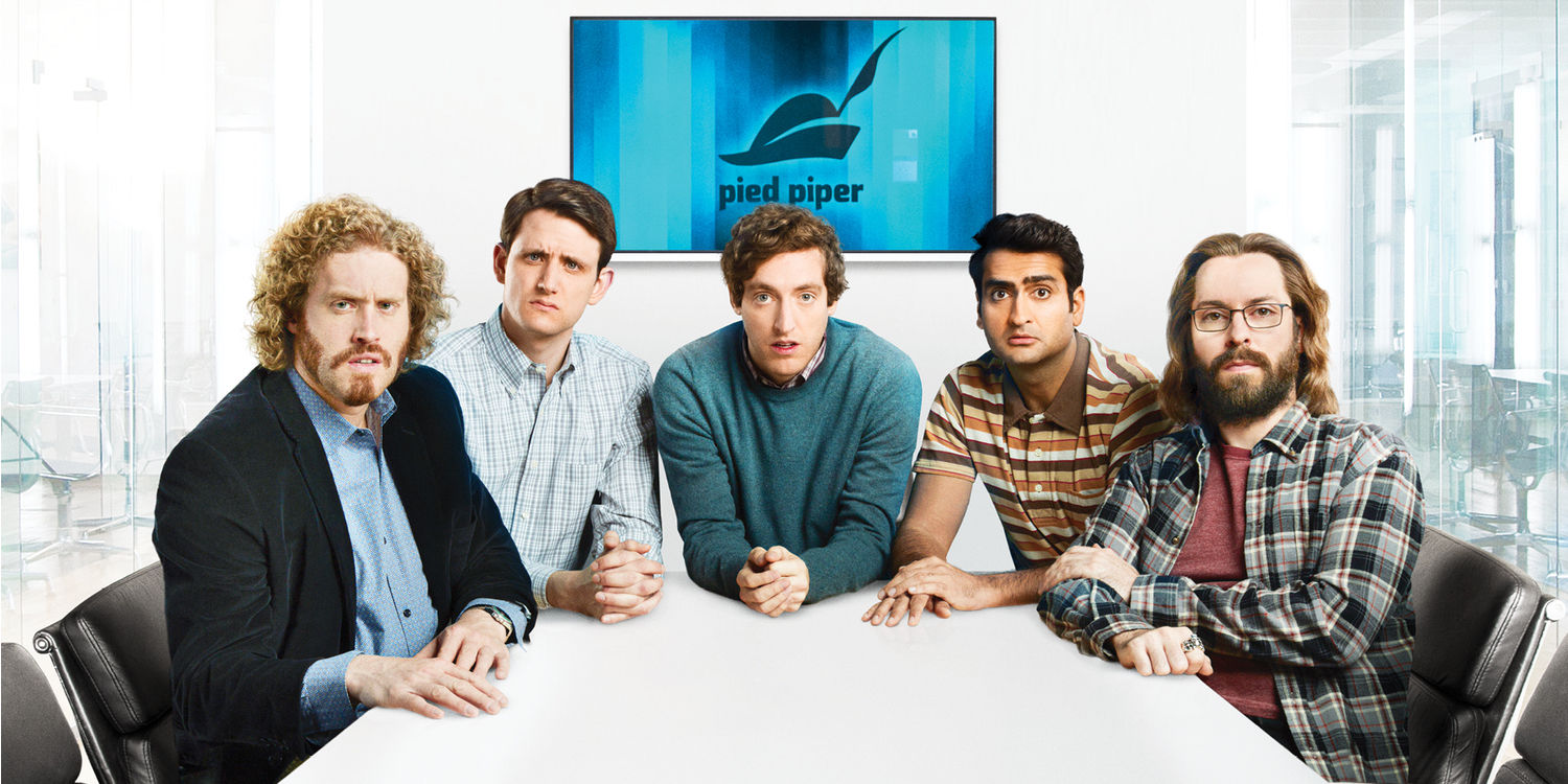 TJ-Miller-Zach-Woods-Thomas-Middleditch-Kumail-Nanjiani-and-Martin-Starr-in-Silicon-Valley-Season-3